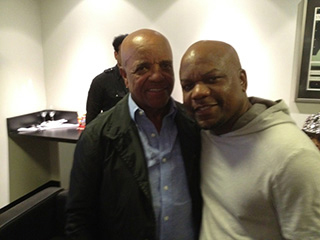 Gary and  Berry Gordy