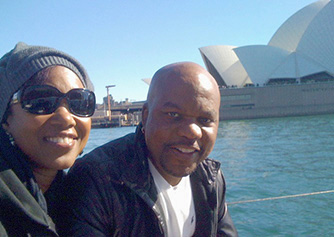 Gary and Jenny in Australia