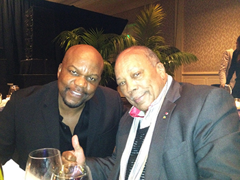 Gary and Quincy Jones