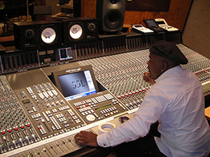 Gary in the studio