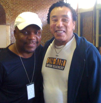 Gary with Smokey Robinson